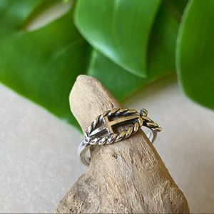 James Avery Retired Sterling Silver Ichthus Ring 6